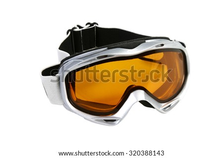 Ski goggles isolated on a white