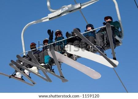 ski lift. - stock photo
