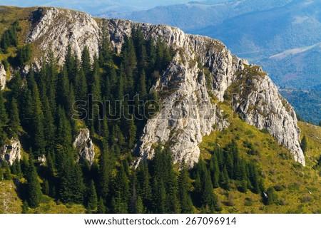 Ski resort in summer. Serbian Kopaonik  mountains without snow - stock photo