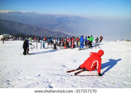 Ski resort in the Carpathians, Romania, Europe - stock photo