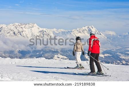 Ski resort Schladming . Austria - stock photo