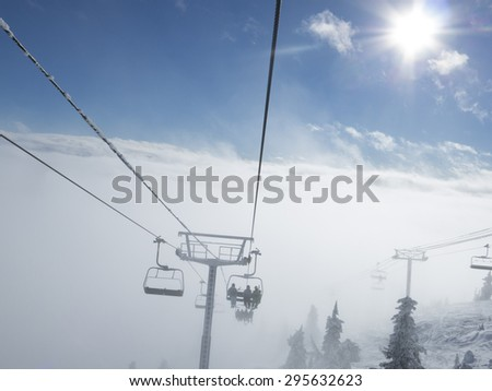Ski Resort Terrain on Sunny Winter Day