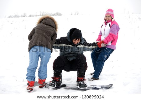 Ski school - stock photo