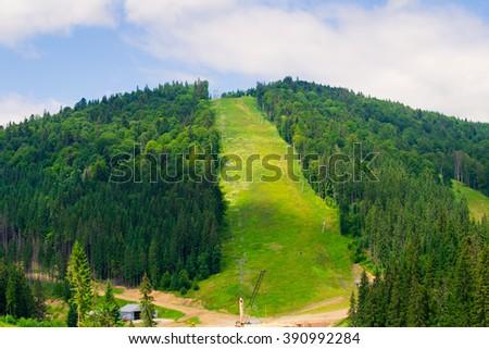 Ski slope - stock photo