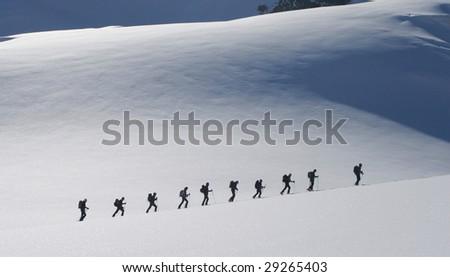 Ski touring - stock photo