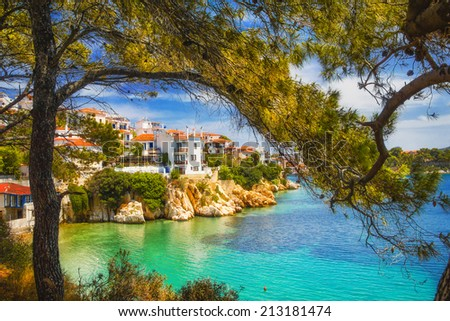 Skiathos Old Town, Greece - stock photo