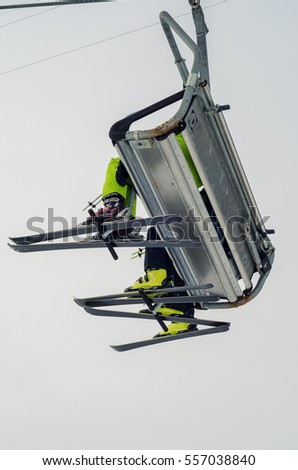 skier at a ski resort