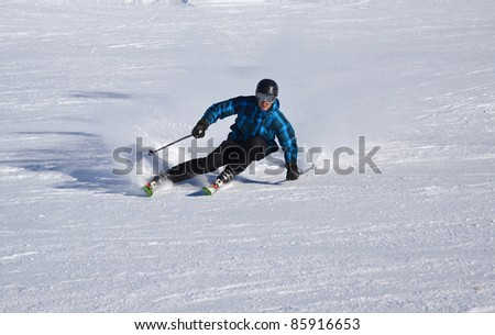 skier  carving - stock photo