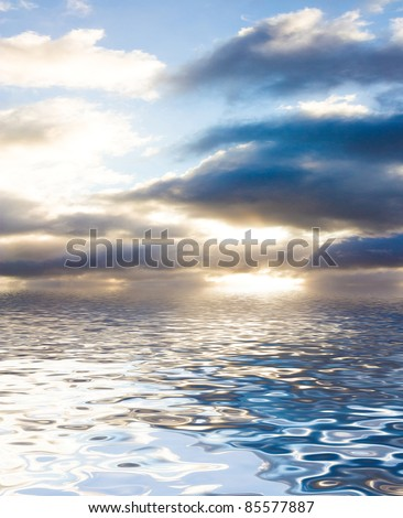 Skies Above Fading Daylight - stock photo