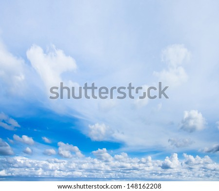 Skies Above Idyllic Wallpaper Cloudscape Spectacular  - stock photo