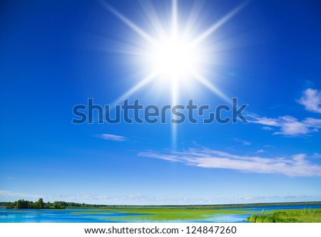 Skies Above Natural Beauty - stock photo