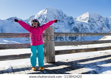 Skiing, winter - young skier on winter vacation - stock photo