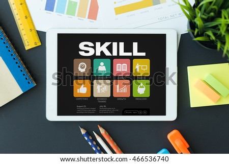 Skill Concept on Tablet PC Screen