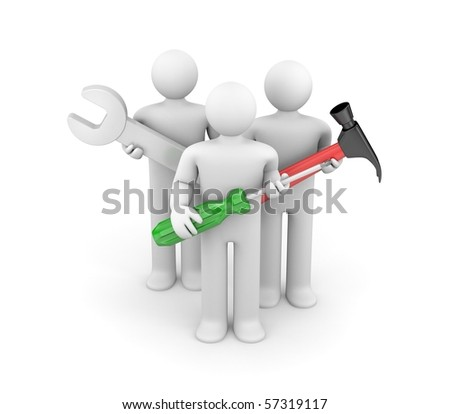Skilled Workers - stock photo