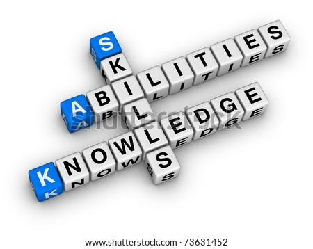 Skills, Knowledge, Abilities - stock photo