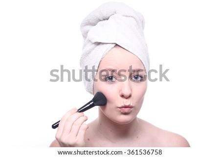 Skin Care Woman - stock photo