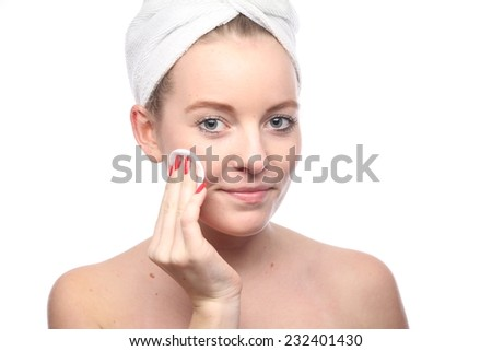 Skin care woman without make-up