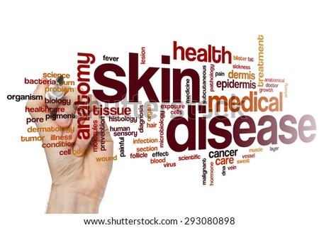Skin disease word cloud concept - stock photo