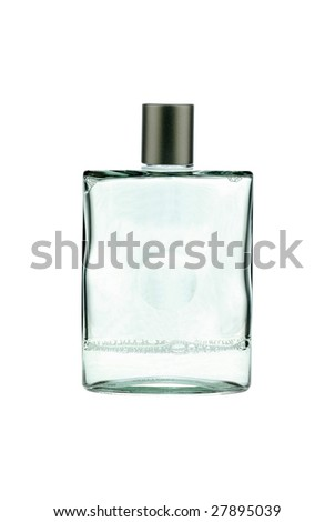 skin lotion for men isolated on white - stock photo