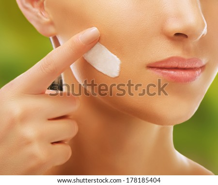 Skincare cream - stock photo