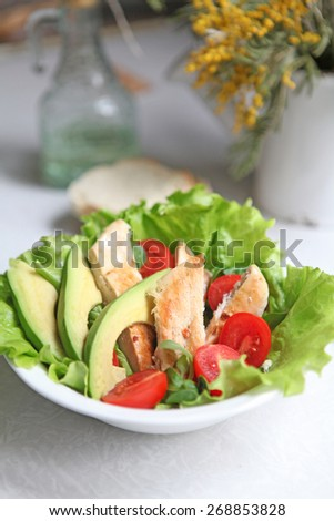 Skinny chicken salad - stock photo