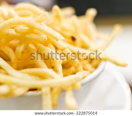Skinny french fries - stock photo