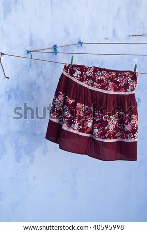 skirt on clothesline