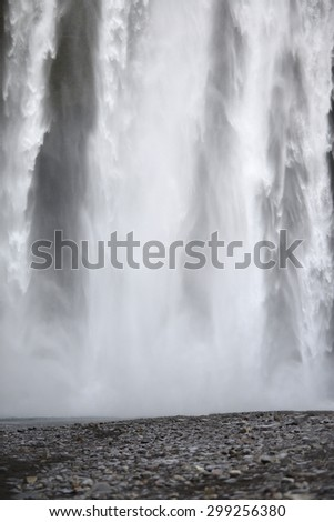 skogafoss is a big waterfall in iceland