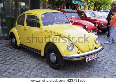 SKOPJE MACEDONIA - MAY 07 2016: Old timers Classic Cars and Motorcycles presented on 11th Old Timer Car Show, May 07, 2016 in Skopje. The event organized by Euroimpex from Skopje.