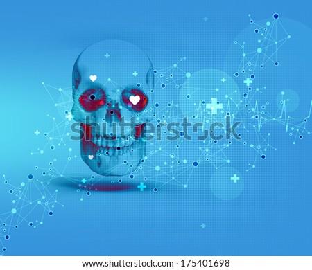 skull - stock photo