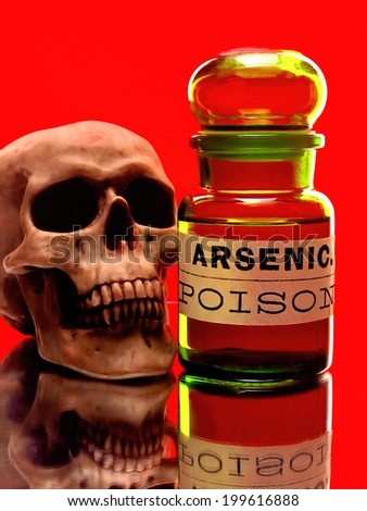 Skull and bottle of arsenic.