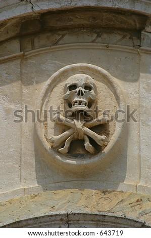 Skull and Cross Bones - stock photo