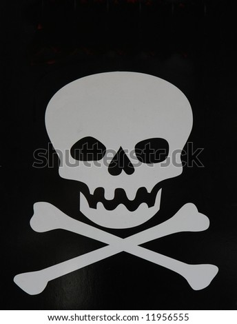 Skull and crossbones - stock photo