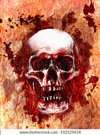 Skull background - stock photo