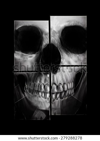 skull banner,skull print,skull illustration,T-shirt Graphics,illuminati skull design,canvas print,skull tattoo design,hand-drawn skulls,black background skull,Impressive skull illustration