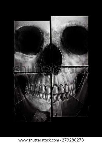 skull banner,skull print,skull illustration,T-shirt Graphics,illuminati skull design,canvas print,skull tattoo design,hand-drawn skulls,black background skull,Impressive skull illustration - stock photo