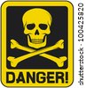 skull danger sign  - stock vector