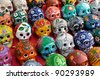 Skulls for Sale at Chichen Itza - stock photo
