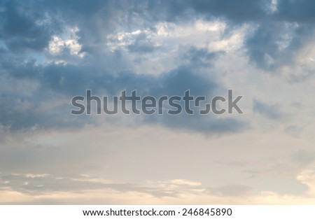 sky after rainng - stock photo