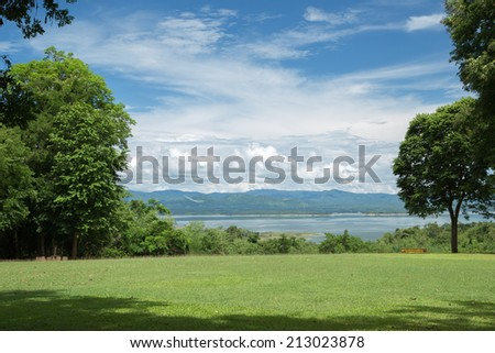 Sky and cloud in nature - stock photo