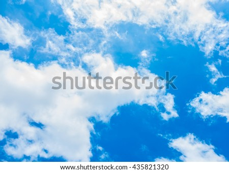 Sky and clouds  - stock photo