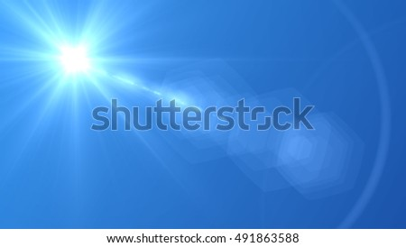 sky and clouds  background .digital lens flare