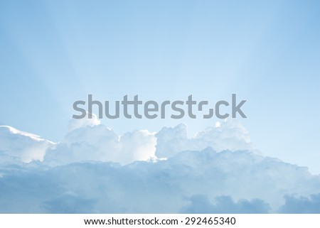 Sky and clouds background.Rain clouds were formed  - stock photo