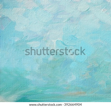 sky and clouds, painting by oil on a canvas,  illustration,background - stock photo