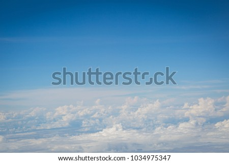 sky and clouds view from airplan background