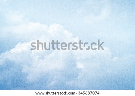 sky and clouds with gradient filter and grunge, nature abstract background - stock photo
