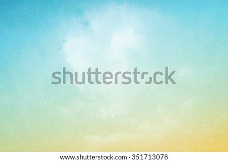 sky and clouds with gradient filter and grunge paper texture, nature abstract background    - stock photo
