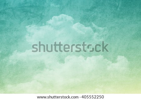 sky and clouds with gradient filter and grunge texture , nature abstract background - stock photo