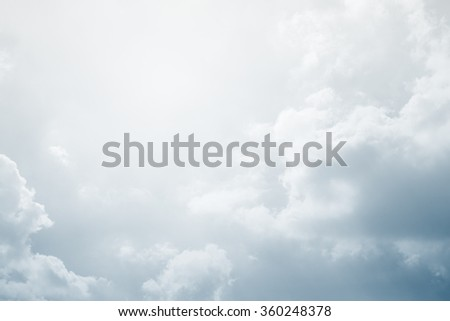sky and clouds with gradient filter, nature abstract background - stock photo