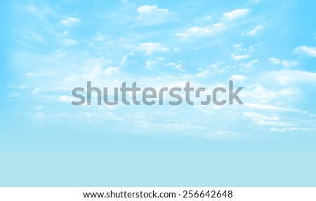 sky and cloudy  - stock photo